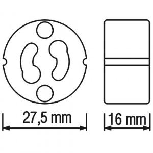 3 Stück HL551 - GU10 Fassung Lampenfassung Sockel...