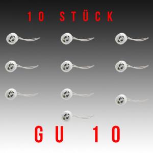 10 Stück HL551 - GU10 Fassung Lampenfassung Sockel...