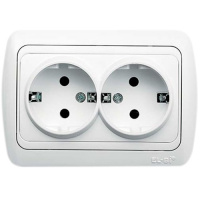 Double Socket Outlet-Earthed