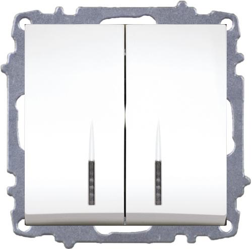 Double One Way Switch - Illuminated-Without Frame