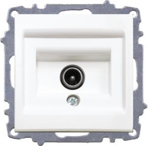 Shielded TV Socket Outlet - Through Line -Withou Frame