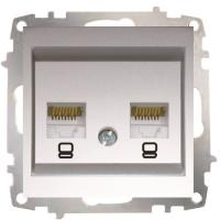 Double Data Socket Outlet (2 pcs-Cat6 Jack) Without Frame