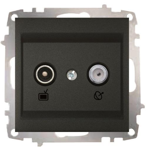 TV+Satellite Socket Outlet -Through Line