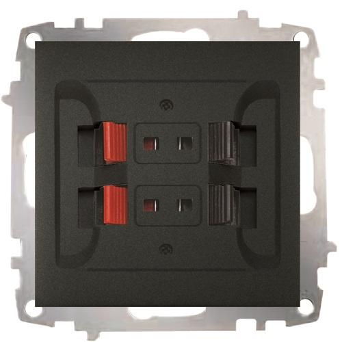 Music Hi-fi Socket Outlet-2 Gang - without frame