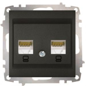 Double Data Socket Outlet (2 pcs-Cat6 Jack)