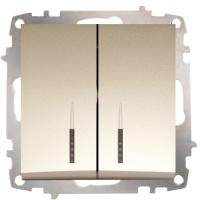 Double One Way Switch - Illuminated