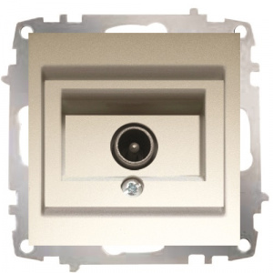 Shielded TV Socket Outlet - Through Line
