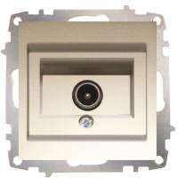 TV DOSE DURCHGANG 1 LOCH (EINSATZ + DECKEL) ZENA TITANIUM
