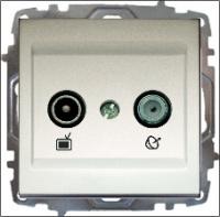 TV + Satellite Socket Outlet - End of Line