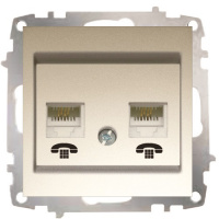 Double Numeris Telephone Socket Outlet