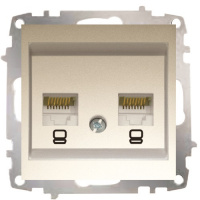 Double Data Socket Outlet (2 pcs-Cat6 Jack)-Without Frame