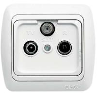 TV+R+Satellite Socket Outlet-Through