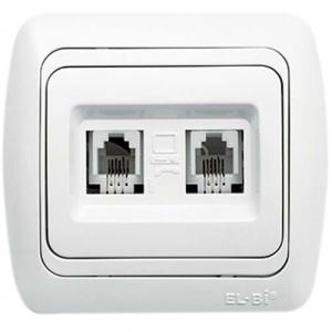 Double Nurneris Tel.Socket Outlet
