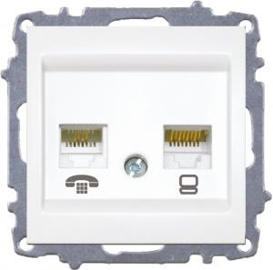 Data Socket Outlet(Cat6)+Numeris Tel.Socket...