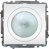 LED LICHT MIT SCHALTER ( EINSATZ+ DECKEL )  ZENA WEISS