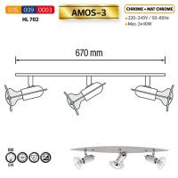 HL702 3X40W CHRM&MATCHRM R50 E14 220-240V CEIL.LMP