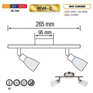 Deckenleuchte Deckenlampe HL744 G9 Mattchrome