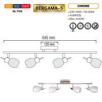 Deckenleuchte Deckenlampe HL7174 G9 Chrome