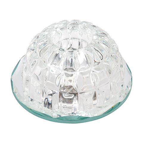 FULYA Klar G4 Kristall LED Aufbaulampe Aufbau Spot