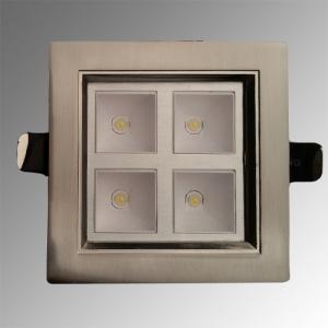 4LED 2700K Warmweiss Mattchrom Power LED Eeinbauspot -...