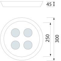Dekorative Deckenleuchte - HL637L Weiss 4x8W 6400K