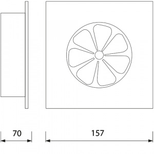 HL963 12W 10CM 220-240V PLASTIC FAN