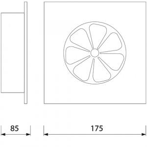 HL964 12CM Raumlüfter Lüfter Ventilator Lüftungsventilator Unterputz 15W