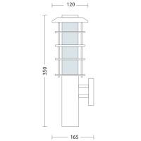 Gartenlampe Wandleuchte E27 Fassung - HL201