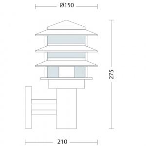 HL206 60W E27 220-240V GARDEN LAMP