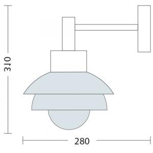 GARTENLAMPE WANDLAMPE mit E27 FASSUNG HL217