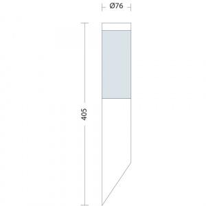 Gartenlampe Wandlampe Edelstahl E27 Fassung - HL230