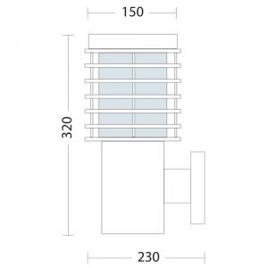 Gartenlampe Wandlampe E27 Fassung - HL296