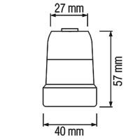 HL593 - E27 Fassung Lampenfassung Leuchtmittelhalterung