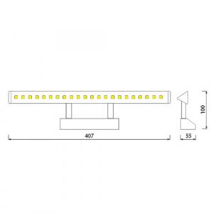 4W LED Designer Spiegelleuchte Badleuchte Schranklampe Bilderlampe Wandleuchte - HL6651L