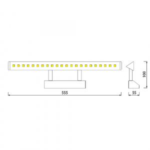 HL6652L 6W CHROME 4200K 30LED 220-240V PIC.&MIR.L.