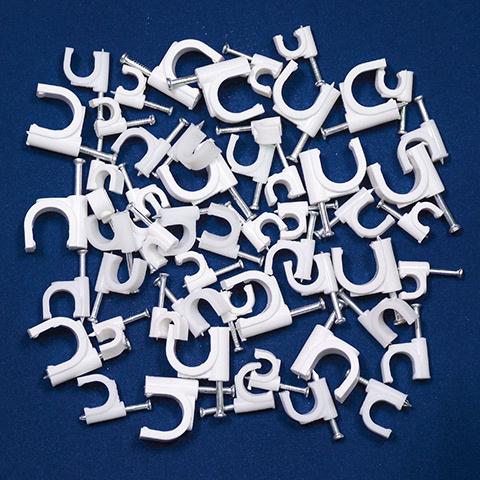 12mm Kabelschelle Nagelschelle Kabelklemme Nail