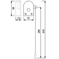 Zugschalter Seilzugschalter Seilzug Zugschalter Zug Schalter mit Seil Schnurschalter HL950