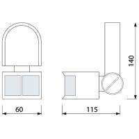 Weiss Bewegungsmelder Sensor Aufputz IP44 180° - CORONA