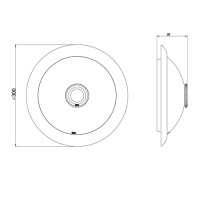 360° Sensor Deckenlampe Armatur Deckenleuchte m. Bewegungsmelder