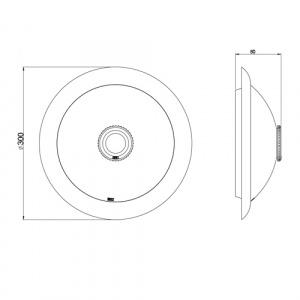 360° Sensor Deckenlampe mit Bewegungsmelder 2x 8W LED Kaltweiss 6400K