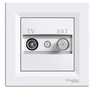 SAT TV DOSE DURCHGANG KOMPLETT ASFORA WEISS