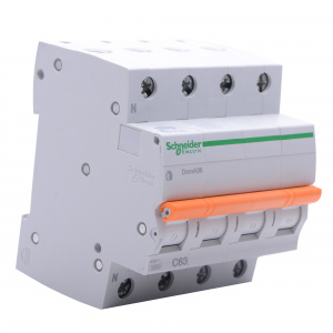 Domae Sicherungsautomat MCB 3kA 3P+N 63A C SCHNEIDER...
