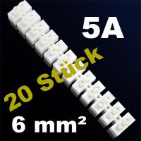 20er Pack Lüsterklemme Verbindungsklemme Schraubklemme Klemme 5A 6mm²