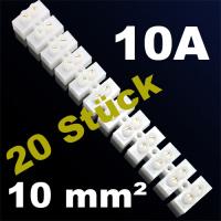 20er Pack Lüsterklemme Verbindungsklemme Schraubklemme Klemme 10A 10mm²