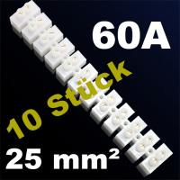 10er Pack Lüsterklemme Verbindungsklemme Schraubklemme Klemme 60A 25mm²