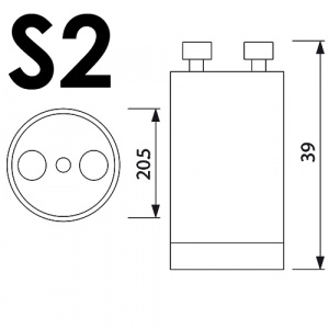100er Pack S2 STARTER Für Leuchtstoffröhre...