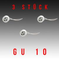 3 Stück HL551 - GU10 Fassung Lampenfassung Sockel Keramik Halogen LED Strahler 230V