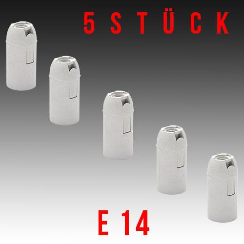 5er Pack HL586 - E14 Fassung Lampenfassung Leuchtmittelhalterung