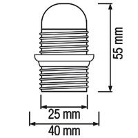 5er Pack HL587 - E14 Fassung Lampenfassung Leuchtmittelhalterung