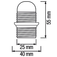 20er Pack HL587 - E14 Fassung Lampenfassung Leuchtmittelhalterung